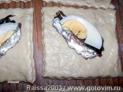 Пирожки с килькой