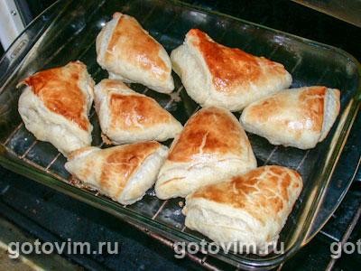 Пирожки слоеные с печенью