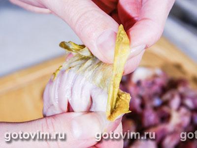 Куриные желудочки в сметанном соусе