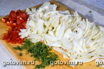 Овощное рагу с куриными желудочками