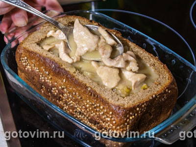 Рагу в хлебе с коричневым сахаром Brown&White