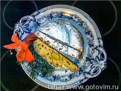 Рождественский штоллен с марципаном (christstollen)
