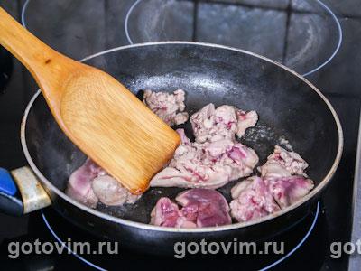 Рулет из кролика с грибами и печенью