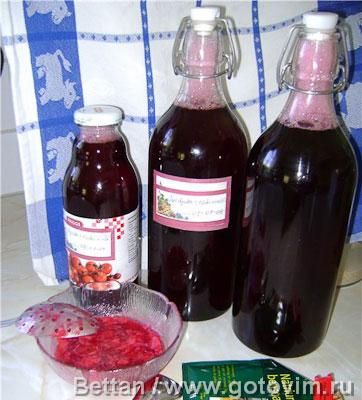 Сафт из красной смородины (компот)