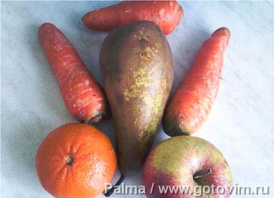Салат фруктово овощной