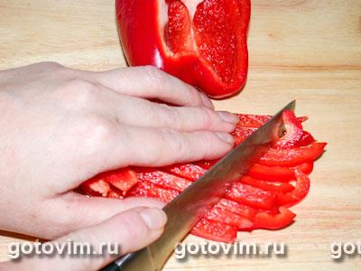 Салат из грибов с красным сладким перцем