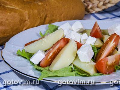 Картофельный салат с фетой