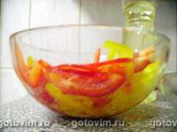 Салат из куриной грудки с маринованным перцем и рисом