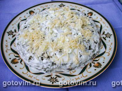 Слоеный салат из печенки