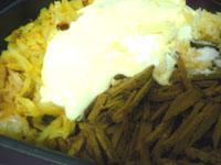 Cалат из печени с картофелем