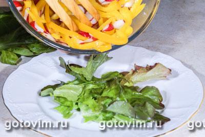 Овощной салат с французской заправкой