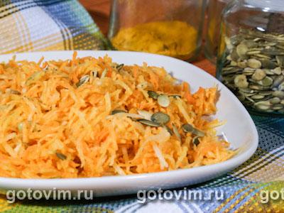 Салат из редьки с морковью