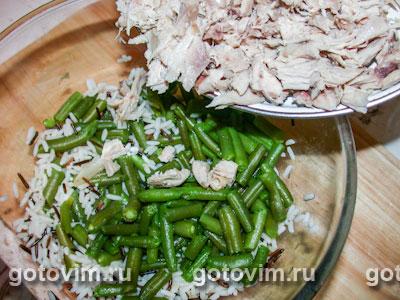 Куриный салат с рисом и карри