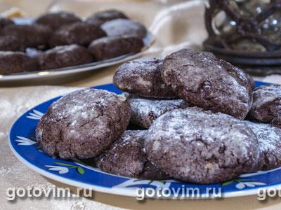 Шоколадное печенье 'Трюфель'. Фото-рецепт