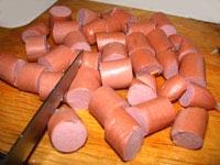 Рагу с картофелем и сосисками