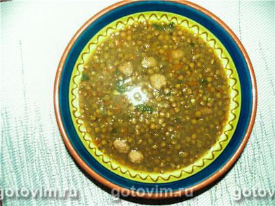Итальянский чечевичный суп с колбасками