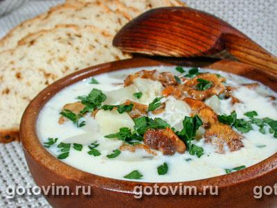 Суп грибной со сливками