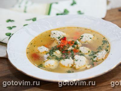 Овощной суп с куриными клецками. Фото-рецепт