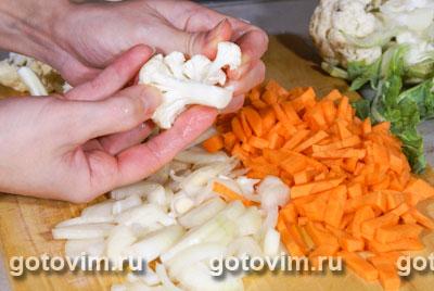 Овощной суп с рисом и кари