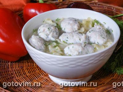 Суп с куриными клецками и реджинетти
