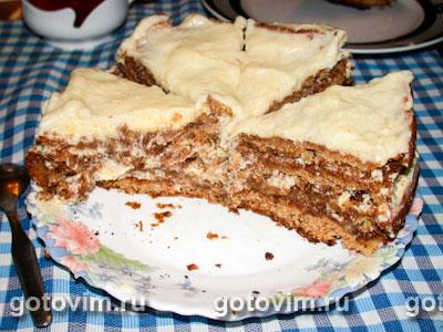 Торт медовый с грецкими орехами