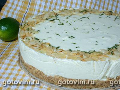 Творожный торт с лаймом. Фото-рецепт