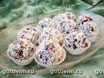 Шоколадные трюфели. Фото-рецепт
