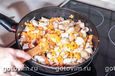 Свинина с тыквой и рисом
