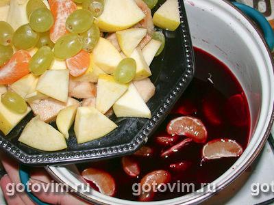 Утка, фаршированная рисом и фруктами в вине
