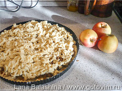 Яблочный пирог (по рецепту тети Люси)