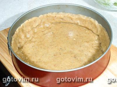 Яблочный пирог из орехового теста