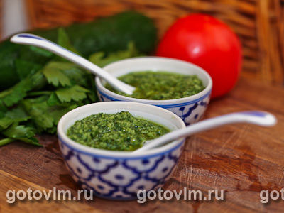 Зеленый соус (mojo verde). Фото-рецепт